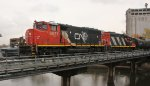 CN 9677 crossing river on local